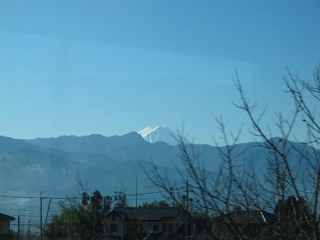 写真: 特急あずさ3号から富士山2