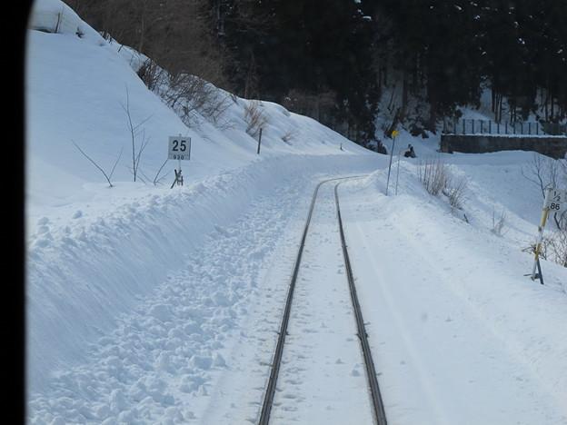 写真: 大糸線キハ52-156後方車窓29