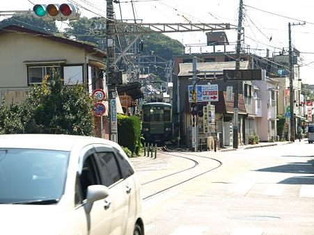 江ノ島→腰越の併用軌道区間28