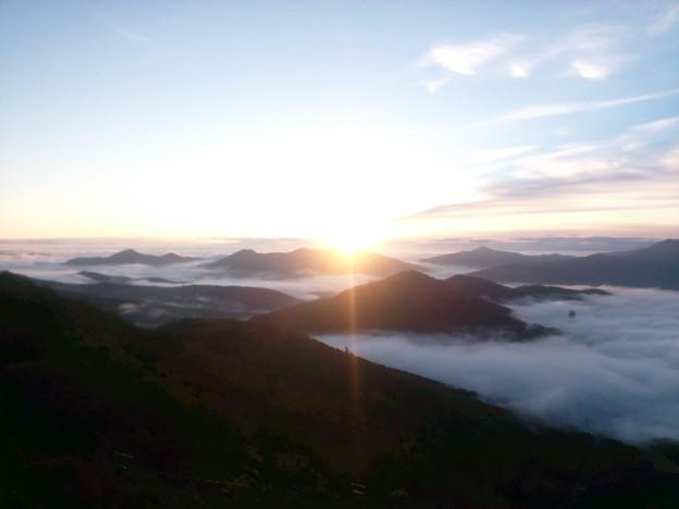 雲海はやや遠いけど、晴れました!