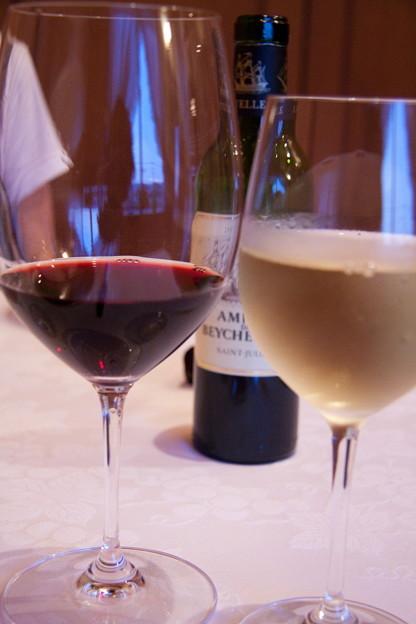 ワインを挟む