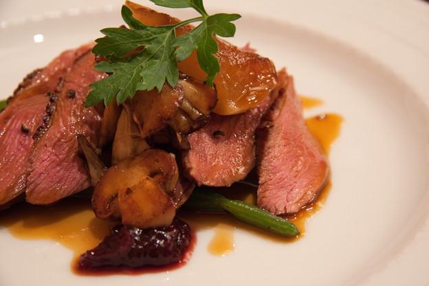 鴨胸肉のグリエ&ロースト