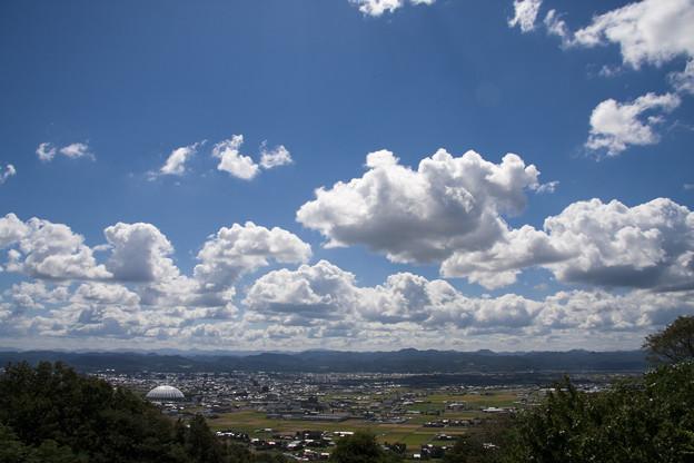 北山中腹より出雲を望む