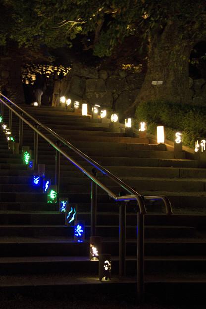 松江城石段