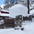 写真: 雪灯篭