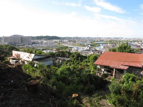 新井田城から八戸城方面 - 写真...