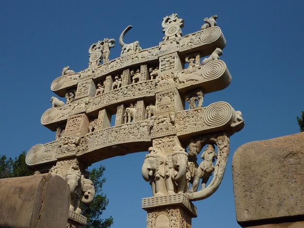 第1塔北塔門~仏教彫刻 Details of Northern torana