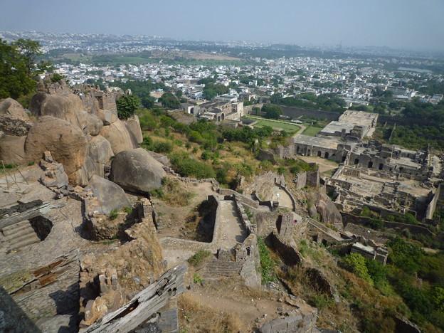 ハイダラバード鳥瞰 Fort overlooking the city of Hyderabad