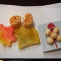 写真: *舞い降りし紅葉と紛う生麩かな Lunch at Hanbeifu