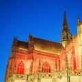 写真: 悲しい程蒼い夜空 St. Elisabeth Cathedral