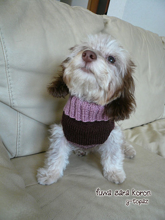 みらくのための手編みセーター 1