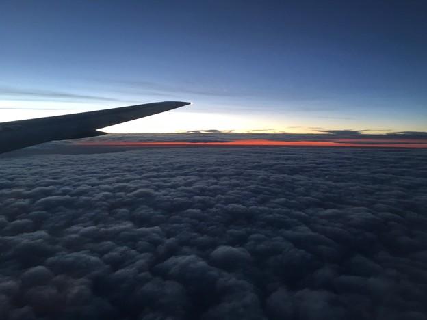 写真: 西の空