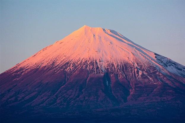 12月31日富士市からの夕方富士山~今年もありがとうございました(^ ^)感謝!来年もよろしくです(^_-)-☆良いお年を~