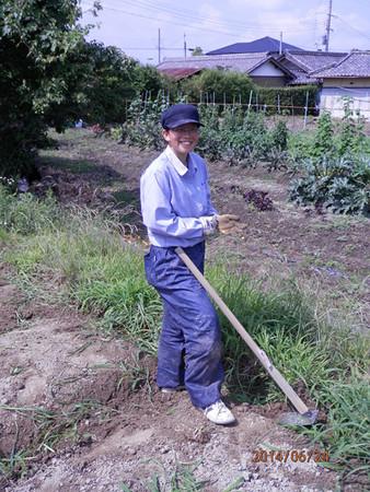 暑い中の除草作業