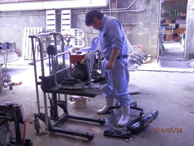 農業機械の整備