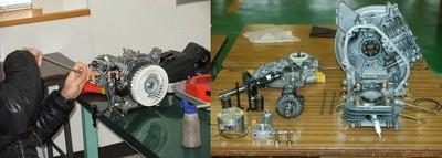 エンジンの組立
