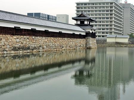 広島城04 二の丸城壁と太鼓櫓