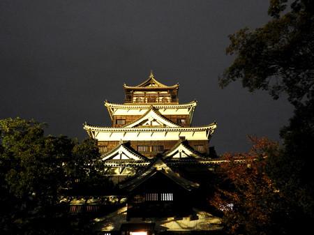 広島城ライトアップ10