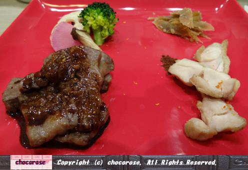 お肉とお野菜のステーキ