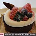 写真: バレンタイン限定チョコレートロールケーキ