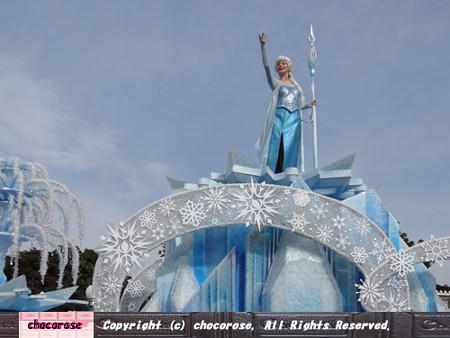雪の女王のフロート