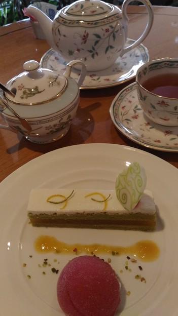 椿山荘のケーキセット