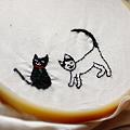写真: 刺繍の練習