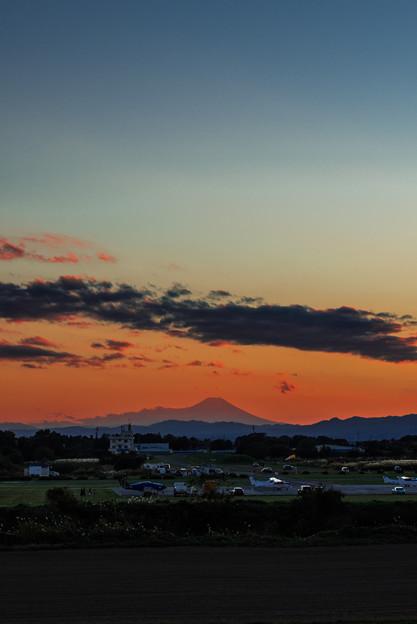 飛行場ナメの富士山@桶川