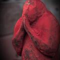 写真: 赤い猿2@三ツ木神社