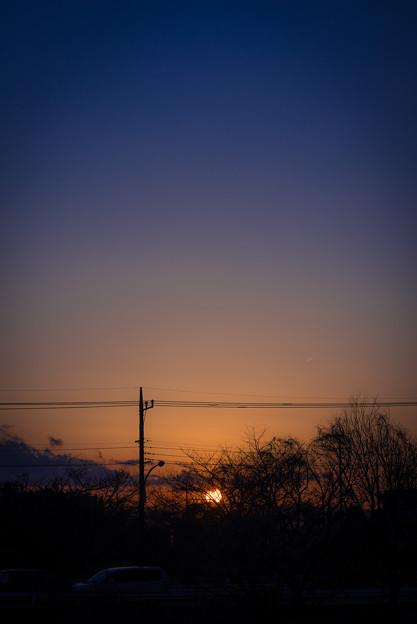 夕焼け1@桶川