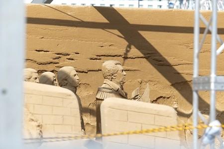 2014.10.07 みなとみらい 砂の彫刻展 ペリーも台風に敵わない