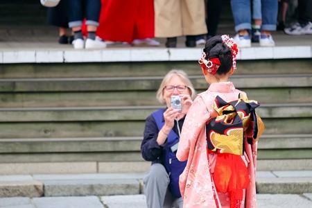 2016.10.10 白山神社 七五三宮参り 「はいポーズ」