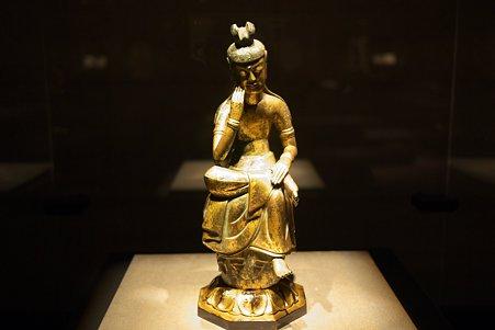 2010.11.15 東京国立博物館 仏像の道-インドから日本へ 菩薩半跏像 那智山出土