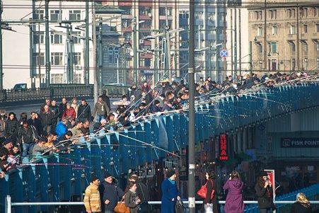2011.01.27 トルコ イスタンブル イェニ・ジャーミィモスク前広場からガラタ橋