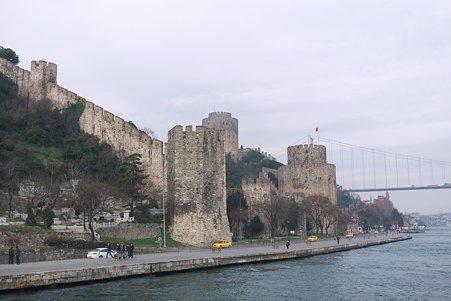 2011.01.28 トルコ イスタンブル ボスフォラス海峡クルーズ-ルメリ・ヒサールと第2ボスフォラス大橋