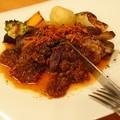 牛リブロースのステーキ ~さっぱりオニオンのソース~