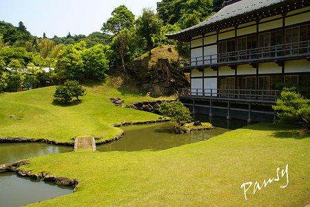 日本最古の禅庭園と・・得月楼・・鎌倉建長寺にて・・7