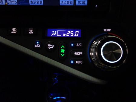 トヨタAQUA 千葉県 LED打ち替え エアコンパネル