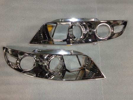 インフィニティFX 石川県 ヘッドライトインナーブラック塗装前