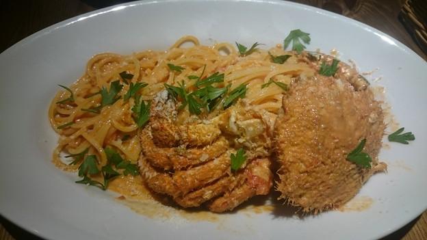 北海道産クリガニのクリームスパゲッティ