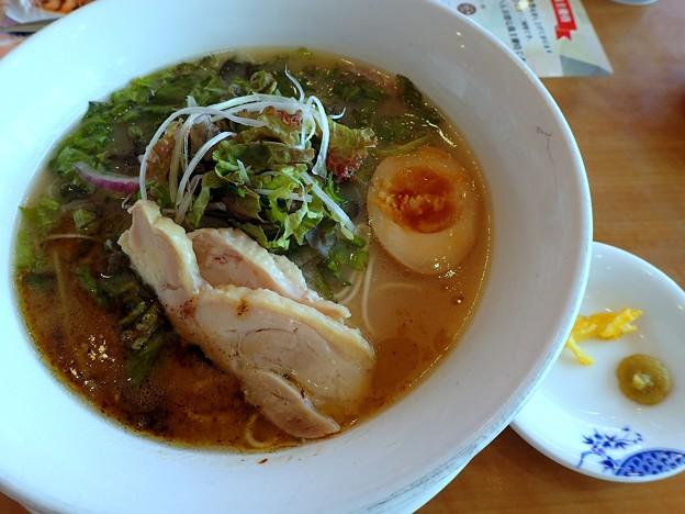 野菜たっぷり水炊き鶏白湯ラーメン@バーミヤン栃木さくら店・さくら市