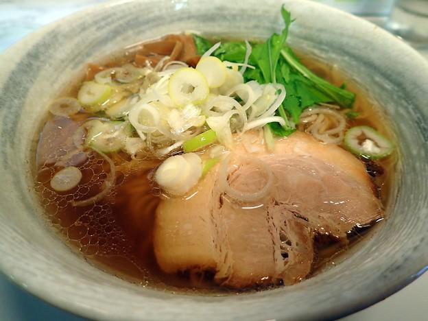 秋刀魚だしらーめん(醤油)・並盛@黒船・大船渡市