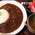 Photos: 20100316バンゴハン ハヤシライス たまねぎスープ トマト