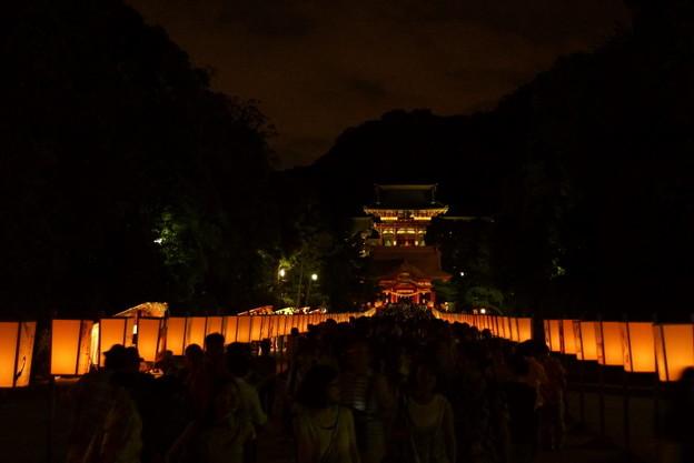 写真: ぼんぼり祭り薄明り20160808e
