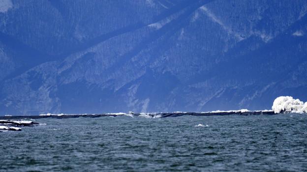 日本海の流氷が石狩川河口に