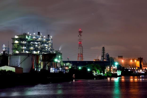 夜の南渡田運河