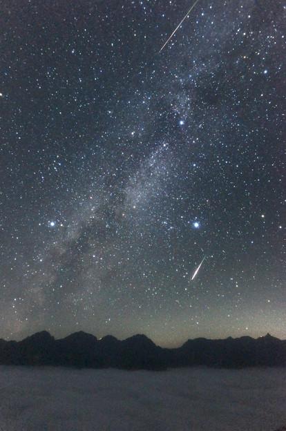 [2016年08月13日]ペルセウス座流星群(蝶ヶ岳より)