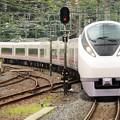 友部駅に入線するフレッシュひたち21号 E657系K12編成