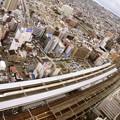 浜松駅俯瞰♪ 通過するN700系のぞみ231号
