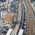 N700系 浜松駅停車中のひかり465号と通過するのぞみ217号と218号